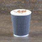 Χάρτινο μαύρο mosaic γκοφρέ ποτήρι 8oz