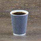 Χάρτινο μαύρο mosaic γκοφρέ ποτήρι 12oz