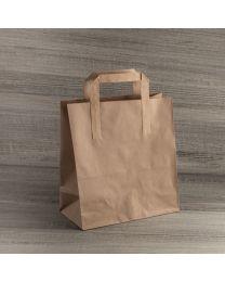 Χάρτινη τσάντα κραφτ μεγάλη με εξωτερικό χεράκι