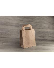 Χάρτινη τσάντα κραφτ μικρή με εξωτερικό χεράκι