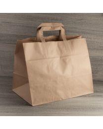 Χάρτινη τσάντα κραφτ μεγάλη