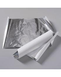 Λαμιναρισμένα αλουμινόφυλλα διαστάσεων 35x50 cm με λευκό χαρτί