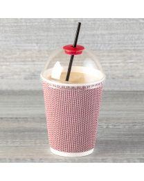Κόκκινο πλαστικό πώμα για καπάκι με τρύπα