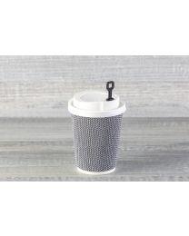 Μαύρος πλαστικός αναδευτήρας για καπάκι με στόμιο