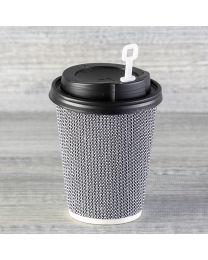 Λευκός πλαστικός αναδευτήρας για καπάκι με στόμιο
