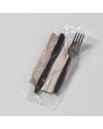 Πλαστικό μαύρο κουβέρ 18 cm συσκευασμένο