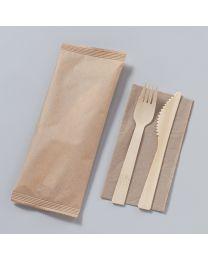 Bamboo κουβέρ 16.5 cm συσκευασμένο