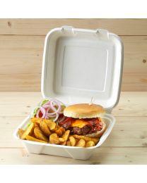 Βιοδιασπώμενο τετράγωνο κουτί large για μερίδα burger