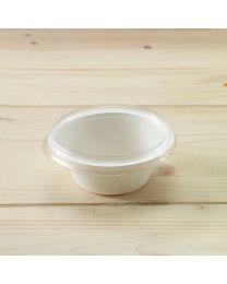 Διαφανές ίσιο ανακυκλώσιμο καπάκι για σκεύος bagasse L015