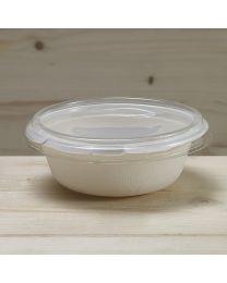 Διαφανές ίσιο ανακυκλώσιμο καπάκι για σκεύος bagasse L026B