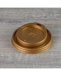 Χρυσό καπάκι για χάρτινο ποτήρι 8oz