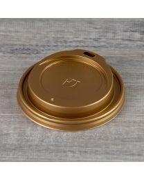 Χρυσό καπάκι για χάρτινο ποτήρι 10oz, 12oz & 16oz
