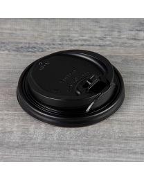 Μαύρο καπάκι για ποτήρι 10oz, 12oz & 16oz Reclosable