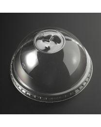 Πομπέ διαφανές καπάκι pet 95mm με σταυρό