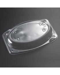 Διαφανές υπερυψωμένο οβάλ καπάκι για μεσαία πιατέλα 35 cm