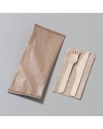 Ξύλινο κουβέρ16 cm συσκευασμένο σε χάρτινο σακουλάκι
