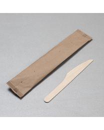 Ξύλινο μαχαίρι 16 cm συσκευασμένο σε χάρτινο σακουλάκι