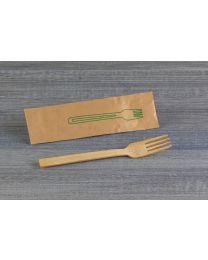 Πιρούνι bamboo συσκευασμένο 16,5 cm