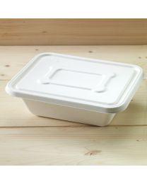 Βιοδιασπώμενο ίσιο καπάκι για σκεύος bagasse B203