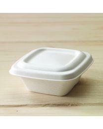 Βιοδιασπώμενο ίσιο καπάκι για σκεύη sauce bagasse B206, B207 & B208
