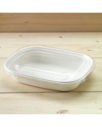 Διαφανές ίσιο ανακυκλώσιμο καπάκι για σκεύη bagasse L067 & L068