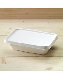 Βιοδιασπώμενο ίσιο καπάκι για σκεύη bagasse B063 & B064