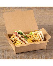 Kουτί kraft lunchbox x-large μέγεθος
