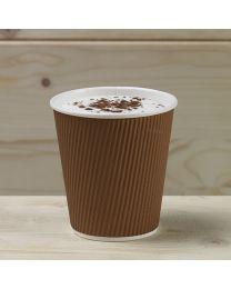Χάρτινο καφέ γκοφρέ ποτήρι 10oz