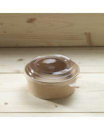 Διαφανές καπάκι για στρογγυλό χάρτινο σκεύος 750ml