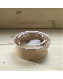 Διαφανές καπάκι για στρογγυλό χάρτινο σκεύος 1000ml