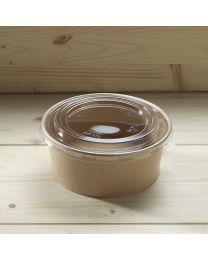 Διαφανές καπάκι για στρογγυλό χάρτινο σκεύος 1200ml