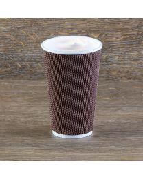 Χάρτινο καφέ mosaic γκοφρέ ποτήρι 16oz