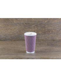 Χάρτινο κόκκινο mosaic γκοφρέ ποτήρι 16oz