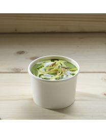 Χάρτινο λευκό δοχείο σούπας & noodles 8oz