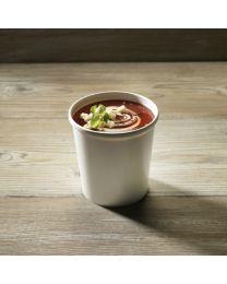 Χάρτινο λευκό δοχείο σούπας & noodles 16oz