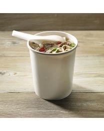 Χάρτινο λευκό δοχείο σούπας & noodles 32oz