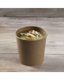Χάρτινο kraft δοχείο σούπας & noodles 26oz