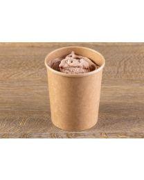 Χάρτινο kraft δοχείο παγωτού υψηλής ποιότητας 32oz