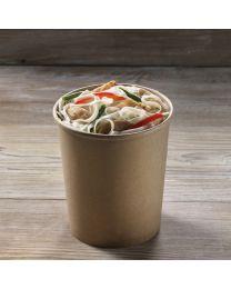 Χάρτινο kraft δοχείο σούπας & noodles 32oz
