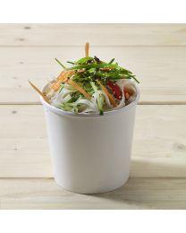Χάρτινο λευκό δοχείο σούπας & noodles 26oz