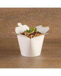 Χάρτινο στρογγυλό λευκό δοχείο ζυμαρικών 26oz