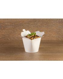 Χάρτινο στρογγυλό λευκό δοχείο noodles 26oz