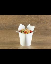 Χάρτινο στρογγυλό λευκό δοχείο ζυμαρικών 16oz