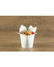 Χάρτινο λευκό δοχείο noodles 16oz