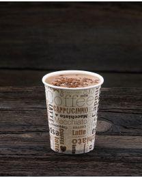 """Χάρτινο ποτήρι 12oz σχέδιο """"white latte"""""""