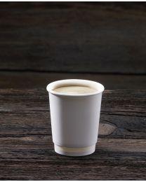 Χάρτινο λευκό διπλότοιχο ποτήρι 8oz