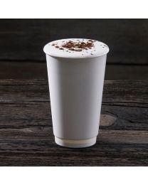 Χάρτινο λευκό διπλότοιχο ποτήρι 16oz