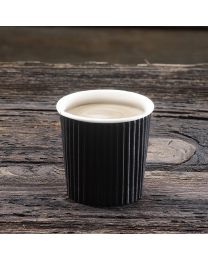 Χάρτινο μαύρο γκοφρέ ποτήρι 4oz
