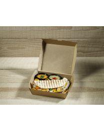 Χάρτινο οικολογικό κουτί τετράγωνο για club sandwich
