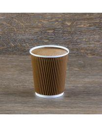 Χάρτινο καφέ γκοφρέ ποτήρι 8oz
